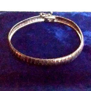 VINTAGE ITALY Sterling Silver Omega Chain Bracelet